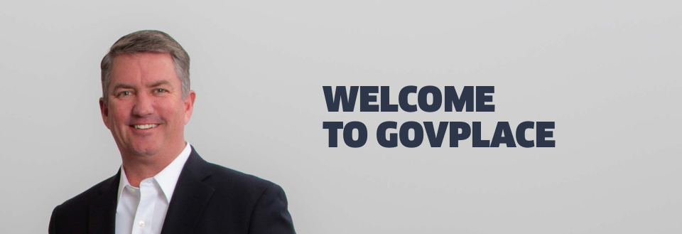 """""""Welcome to Govplace"""" text with photo of Steve Hoffman, Senior Vice President of Sales"""