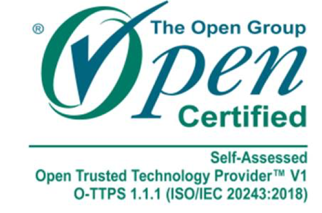 The Open Group - Open Certified: Self-assessed Open Trusted Technology Provider™ V1 O-TTPS 1.1.1 (ISO/IEC 20243:2018)