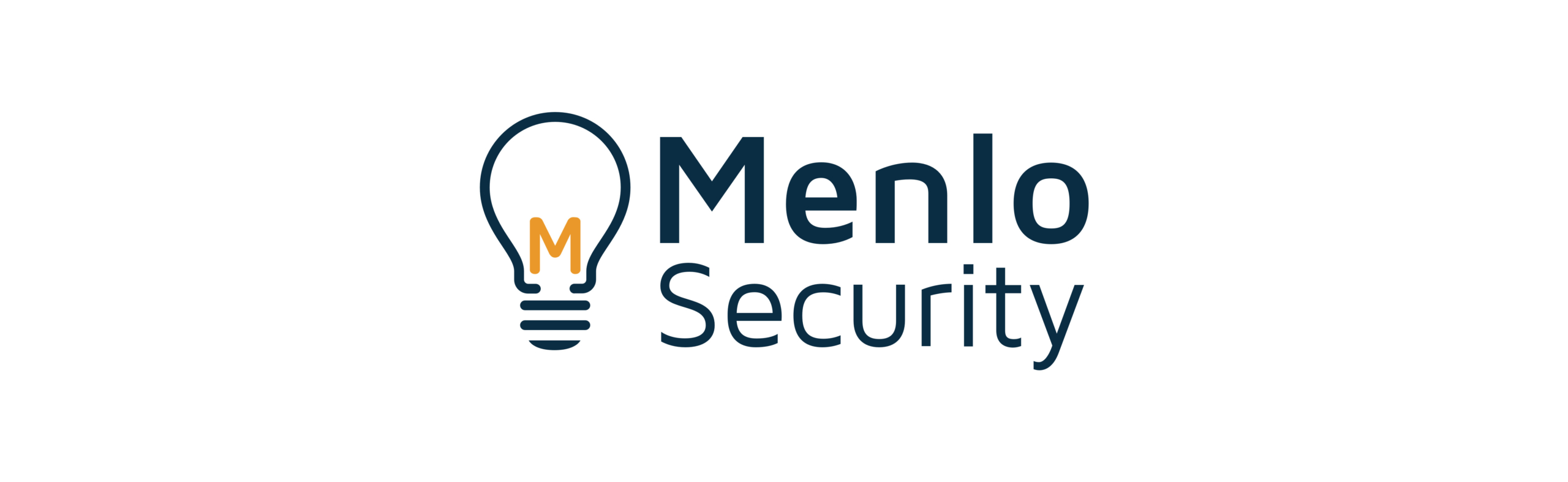 """Menlo Security logo featuring the outline of a lightbulb with the letter """"M"""" inside"""